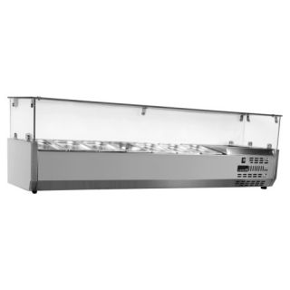 Ψυγείο σαλατών επιτραπέζιο για 5 GN 1/4 125x34x45 εκ NK-SAPI125T