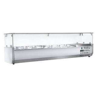Ψυγείο σαλατών επιτραπέζιο για 7 GN 1/3 174X40X45 εκ NK-SAPI174T3