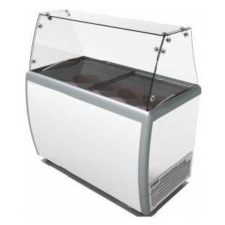Ψυγείο βιτρίνα παγωτού επιδαπέδιο με φυσική ψύξη 126x71,54x130 εκ VNT-SDG360