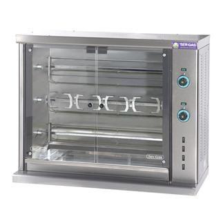 Επαγγελματική κοτοπουλιέρα ηλεκτρική επιτραπέζια με 3 σούβλες SER-SE3 106χ45χ84 εκ
