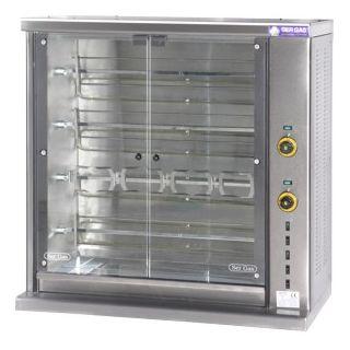 Επαγγελματική κοτοπουλιέρα ηλεκτρική επιτραπέζια με 4 σούβλες SER-SE4 106χ45χ104 εκ