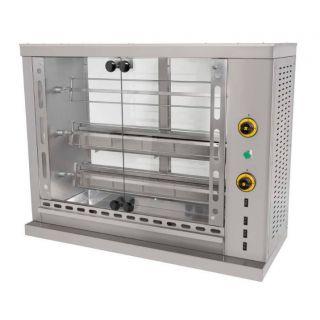 Επαγγελματική κοτοπουλιέρα αερίου επιτραπέζια  με 3 σούβλες SER-SG3 106X50X84 εκ