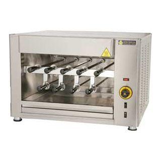Ψησταριά αερίου επιτραπέζια για 9 κοντοσούβλια SER-SGA9 74X61X60 εκ