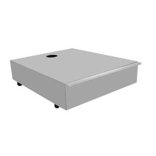 Inox Συρτάρι Καφέ Μονό Stalgast   41X48.8X12.2 εκ   VS-106714