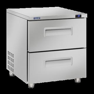 Ανοξείδωτο επαγγελματικό ψυγείο πάγκος συντήρηση 2 ΣΥΡΤΆΡΙΑ CH-TRD12 71,1x79,1x85 εκ ENERGY CLASS A