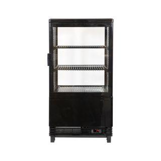 Επαγγελματική βιτρίνα πλαστικοποιημένη συντήρηση μάυρη επιτραπέζια 45,2x40,6x81,6 εκ VNT-VE58BL(new)