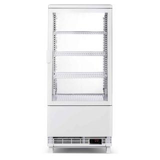 Επαγγελματική βιτρίνα πλαστικοποιημένη συντήρηση λευκή επιτραπέζια 45,2x40,6x96,6 εκ VNT-VE78C
