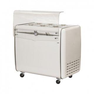 Ψυγείο παγωτού για 6 καραπίνες 106,8x69x98,4 εκ AF-VIA VENETO 6C