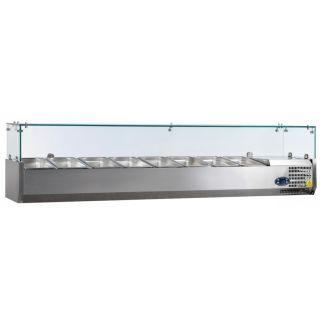 Ψυγείο σαλατών επιτραπέζιο για 8 GN 1/4 1800x335x225(435) εκ  AF-VK33180IGN14