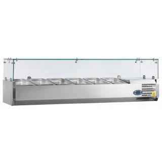 Ψυγείο σαλατών επιτραπέζιο για 6 GN 1/3 1500x395x225(435) εκ AF-VK38150IGN13