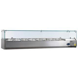 Ψυγείο σαλατών επιτραπέζιο για 8 GN 1/3 1800x395x225(435) εκ AF-VK38180IGN13