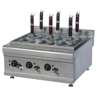 Bραστήρας ζυμαρικών με 6 καλαθια  & βρυσάκια V-VE6M 60X61.2X35 cm