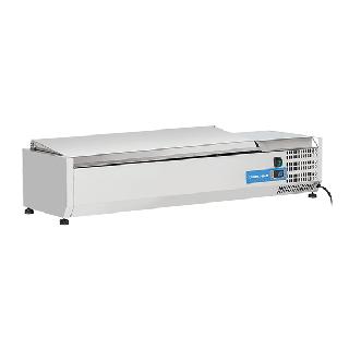Ψυγείο βιτρίνα σαλατών επιτραπέζιο ανοξείδωτο  επαγγελματικό για 5 GN 1/4  CH-VRX 12/33S/S 120X33,5X28,1 εκ
