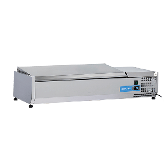 Ψυγείο βιτρίνα σαλατών επιτραπέζιο ανοξείδωτο  επαγγελματικό για 3xGN1/3 + 1xGN1/2  CH-VRX 12/38S/S 120x39.5x28,1 εκ