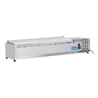 Ψυγείο βιτρίνα σαλατών επιτραπέζιο ανοξείδωτο  επαγγελματικό για 6 GN 1/4  CH-VRX 14/33S/S 140X33,5X28,1 εκ