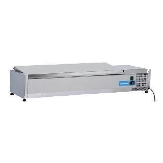 Ψυγείο βιτρίνα σαλατών επιτραπέζιο ανοξείδωτο  επαγγελματικό για  6xGN1/3 CH-VRX 14/38S/S 140x39.5x28,1 εκ