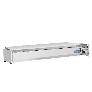Ψυγείο βιτρίνα σαλατών επιτραπέζιο ανοξείδωτο  επαγγελματικό για 8xGN1/3  CH-VRX 18/38S/S 180x39.5x28,1 εκ