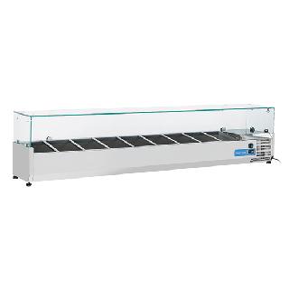 Ψυγείο βιτρίνα σαλατών επιτραπέζιο ανοξείδωτο επαγγελματικό για 10 GN 1/4  CH-VRX20/33 200X33,5X44 εκ