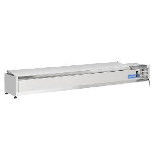 Ψυγείο βιτρίνα σαλατών επιτραπέζιο ανοξείδωτο  επαγγελματικό για 10 GN 1/4  CH-VRX 20/33S/S 200X33,5X28,1 εκ