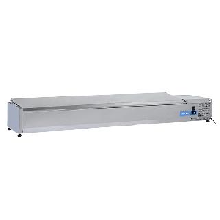 Ψυγείο βιτρίνα σαλατών επιτραπέζιο ανοξείδωτο  επαγγελματικό για 9xGN1/3  CH-VRX 20/38S/S 200x39.5x28,1 εκ